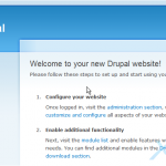 Setting up your account information in Drupal