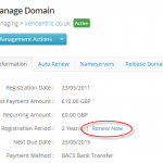 How to pay for your domain renewal via Direct Debit